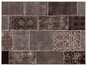 "Bella Casa Teppichläufer ""Shiraz"", ca. 80 x 150 cm - Karo Stepp braun/grau"