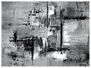 "Bella Casa Teppich ""Shiraz"", Maloptik grau/creme - ca. 160 x 220 cm"