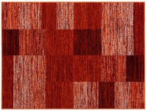 "Bella Casa Teppichläufer ""Shiraz"", ca. 70 x 130 cm - Karo rot/terra/orange"