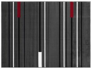 """Bella Casa Teppichläufer """"Shiraz"""", ca. 70 x 130 cm - Streifen anthra/rot"""
