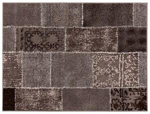 "Bella Casa Teppichläufer ""Shiraz"", ca. 70 x 130 cm - Karo Stepp braun/grau"