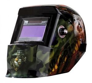 Kraft Werkzeuge Design-Automatik-Kopfschweißschild, Spielkarte Pik Ass