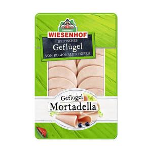 Wiesenhof Geflügel-Mortadella natur oder mit Paprika, jede 100-g-SB-Packung