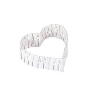 Weiden-Deko Herz 3D 20 x 20 x 7 cm in Weiß