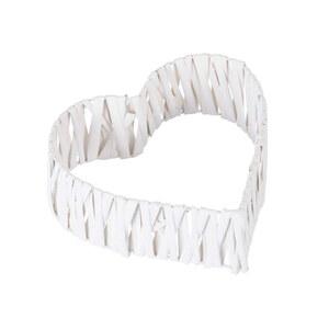 Weiden-Deko Herz 3D  30 x 30 x 8 cm in Weiß