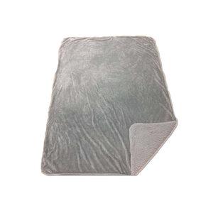 Kuscheldecke - silber - Lammfelloptik - 140x200 cm