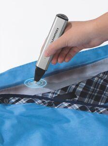 CLEANmaxx Fleckenentferner-Stift Ultraschall 3,7V silber inkl. USB-C Kabel und Schwamm