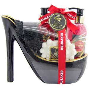 Brubaker Luxus Erdbeer und Kokosmilch 5-teiliges Bade- und Duschset in Stiletto schwarz
