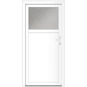 Kunststoff-Nebeneingangstür 'BAZ 682' 98 x 198 cm Anschlag links, weiß