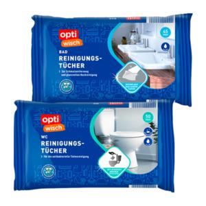 OPTIWISCH     Bad- / WC-Reinigungstücher