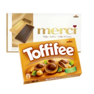 Toffifee oder Merci Tafelschokolade