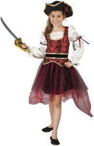 Kostüm - Piratenprinzessin - für Kinder - 2-teilig - verschiedene Größen
