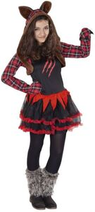 Kostüm - Werwolfmädchen - für Kinder - 2-teilig - verschiedene Größen