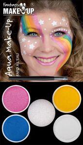 Schminkset - Fantasy Aqua Make-Up - 6-teilig - Einhorn