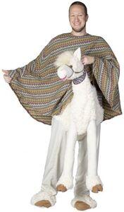 Huckepack-Kostüm - Lama - für Erwachsene