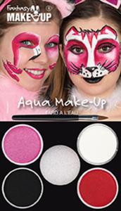 Schminkset - Fantasy Aqua Make-Up - 6-teilig - Flamingo oder Katze