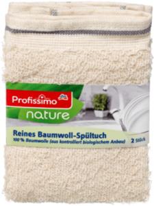 Profissimo nature Reines Baumwoll-Spültuch