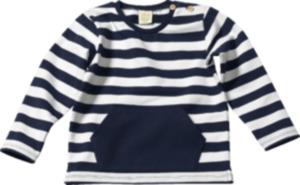 ALANA Kinder Sweatshirt, Gr. 104, in Bio-Baumwolle und Elasthan, weiß, blau