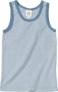 ALANA Kinder Unterhemd, Gr. 104, in Bio-Baumwolle, blau, weiß
