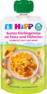 Hipp Quetschbeutel Babymenü Buntes Kürbisgemüse mit Pasta und Hühnchen ab dem 6. Monat