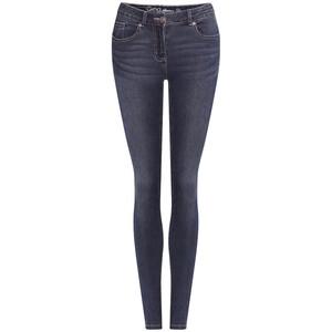 Damen Superflexibel-Jeans mit Used-Waschung