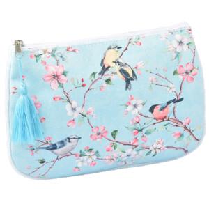 Damen Kosmetiktasche im Kirschblüten-Dessin