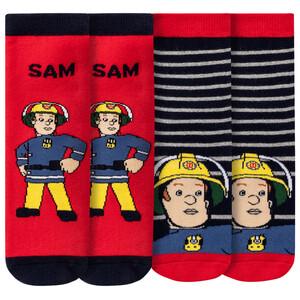 2 Paar Feuerwehrmann Sam Stoppersocken im Set