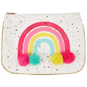 Mädchen Kosmetiktasche mit Pompons