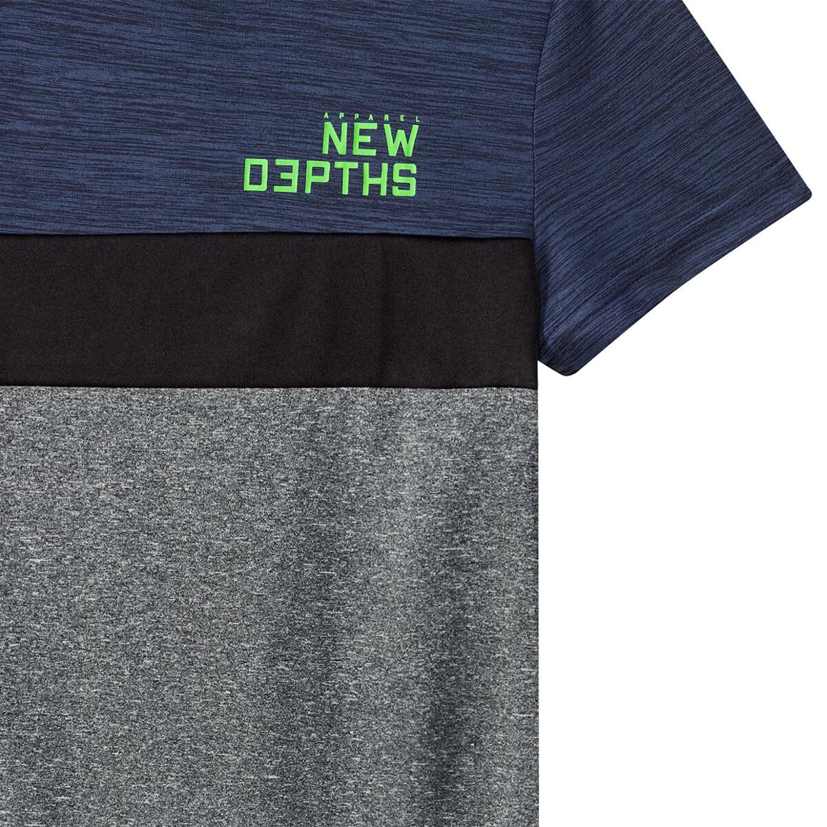 Bild 3 von Jungen Sport-T-Shirt in Melange-Optik
