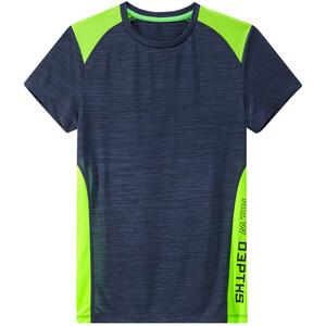 Jungen Sport-T-Shirt mit Neon-Akzenten