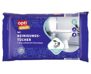 optiWisch Feuchte Bad- oder WC-Reinigungstücher