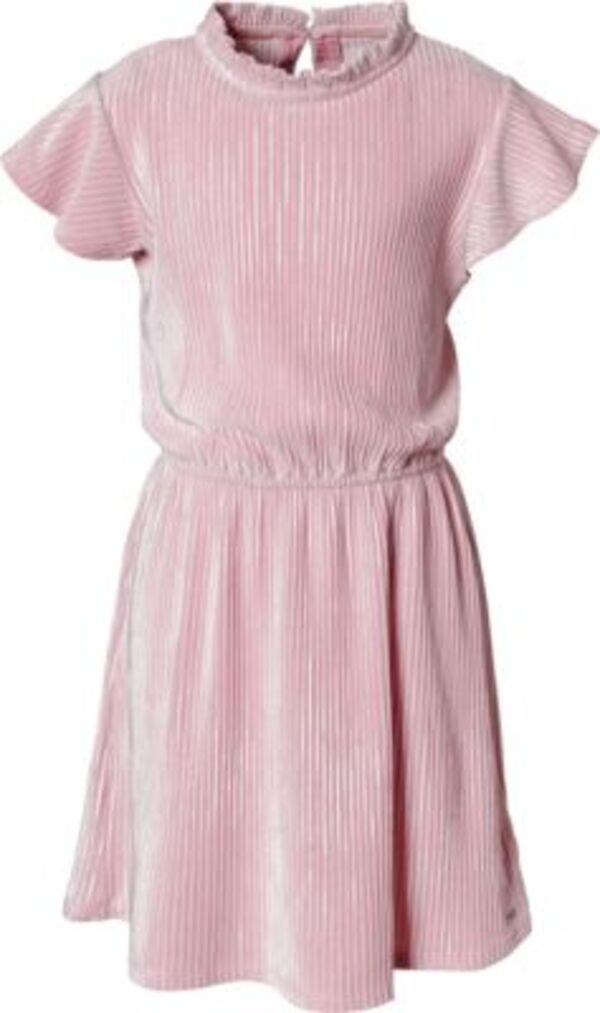 Kinder Samtkleid in Pliseelook rosa Gr. 176