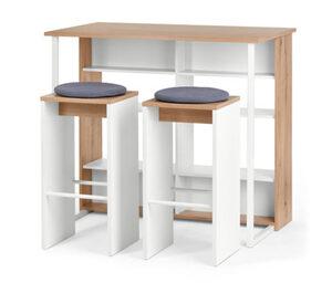 Küchentresen-Set mit Hockern