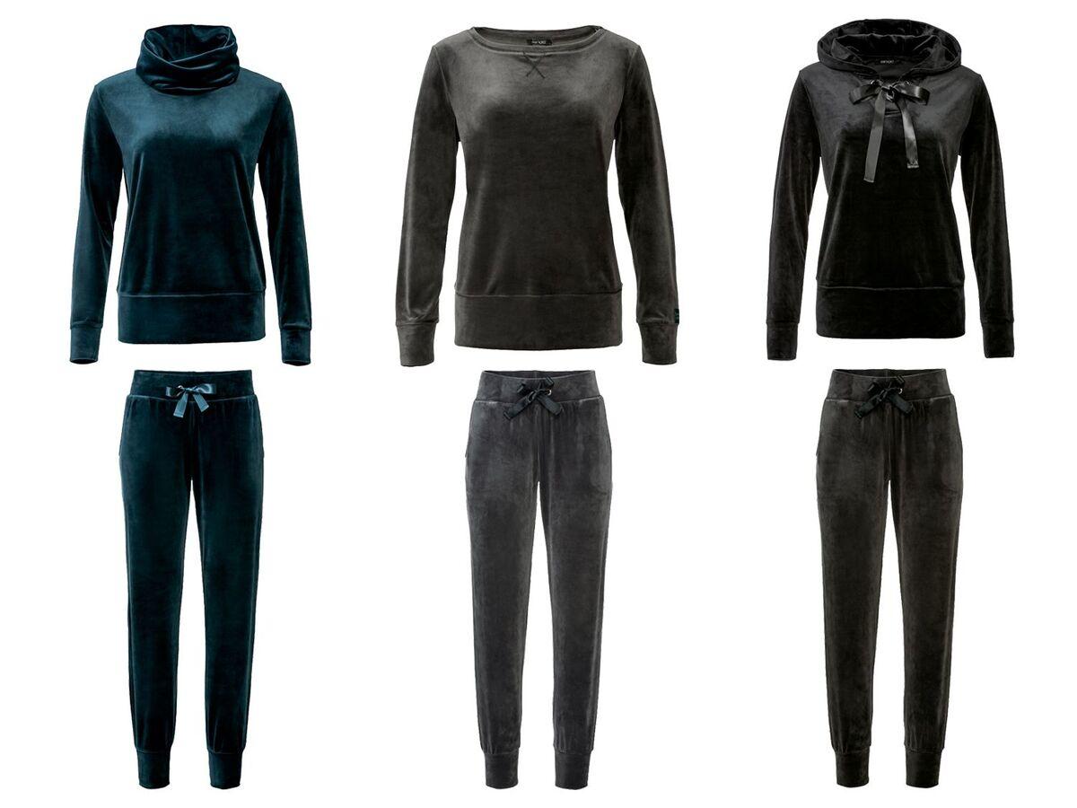 Bild 1 von ESMARA® Jogginganzug, Nicki-Qualität, Hose mit Bindeband, mit Stehkragen oder Kapuze