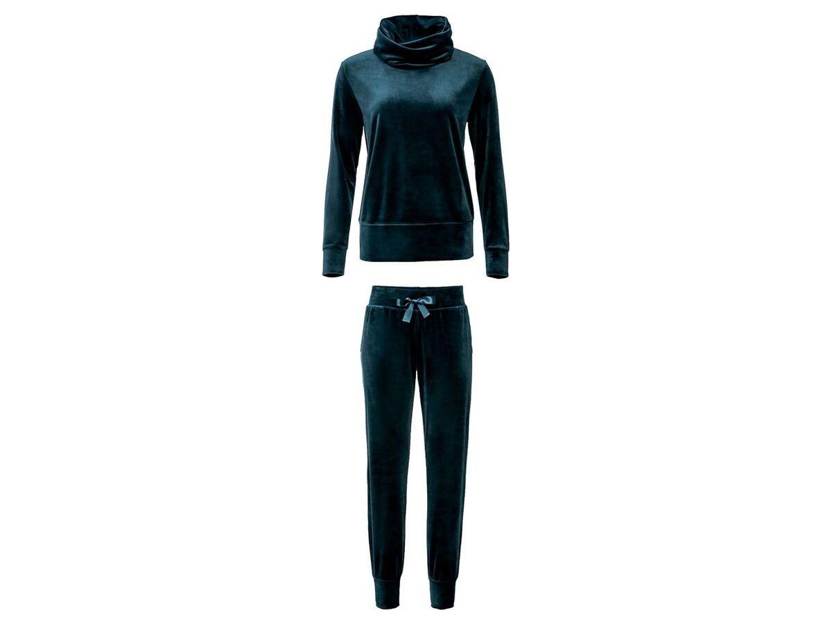 Bild 2 von ESMARA® Jogginganzug, Nicki-Qualität, Hose mit Bindeband, mit Stehkragen oder Kapuze
