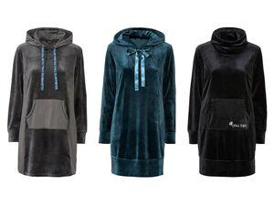 ESMARA® Kleid Damen, Nicki-Qualität, Känguru- oder sietliche Eingriffstaschen, mit Elasthan