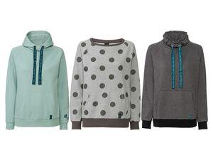 ESMARA® Pullover Damen, Sweatshirt, mit Kängurutaschen, hoher Baumwollanteil