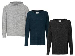 ESMARA® Loungewear Pullover Damen, Kapuze oder Seitenschlitz, mit Viskose und Elasthan