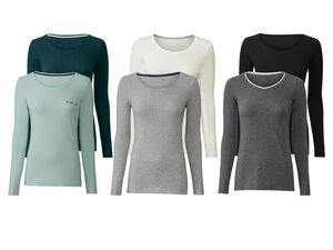 ESMARA® Langarmshirt Damen, 2 Stück, Soft-Touch-Effekt, mit Elasthan