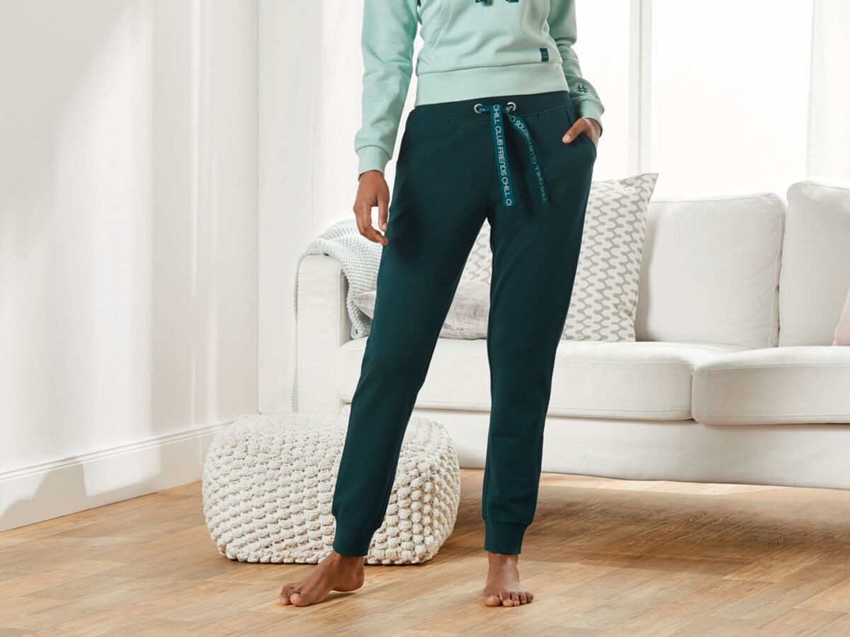 Bild 3 von ESMARA® Jogginghose Damen, Sweatqualität, bedrucktes Bindeband, seitliche Eingrifftaschen