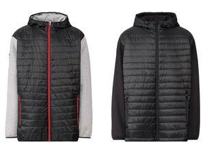 LIVERGY® Lightweightjacke Herren, seitliche Reißverschlusstaschen, mit Kapuze