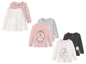 LUPILU® Langarmshirts Kleinkinder Mädchen, 2 Stück, aus Baumwolle, mit Print