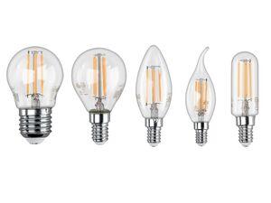 LIVARNO LIVING® Leuchtmittel, Glühbirne, 4,3 Watt, 430 Lumen, E27/E14 Fassung, warmweiß