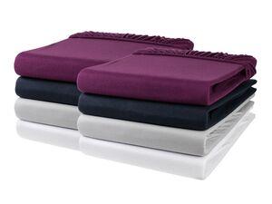 MERADISO® Spannbettlaken, 90-100 x 200 cm, 2 Stück, für Matratzen bis 25 cm Steghöhe