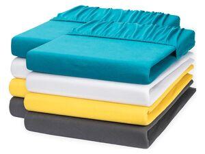 MERADISO® Jersey Spannbettlaken, 2 Stück, atmungsaktiv, 90-100 x 200 cm