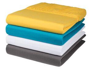 MERADISO® Jersey-Spannbettlaken, 180-200 x 200 cm, bis 25 cm Matratzensteghöhe