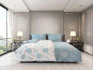 Castell Biber Bettwäsche Rosen blau