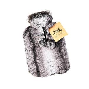 Wärmflasche Fell, L:35cm x B:22cm, braun
