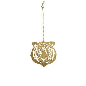 Anhänger Tiger, L:6cm, gold