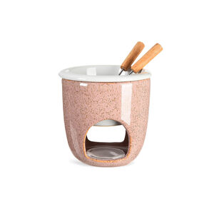 Fondue for two, D:12cm x H:12cm, rosa